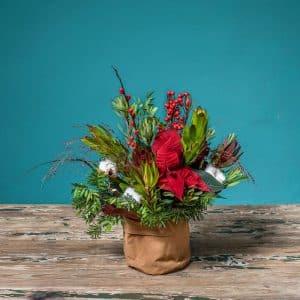 composicion floral navidad