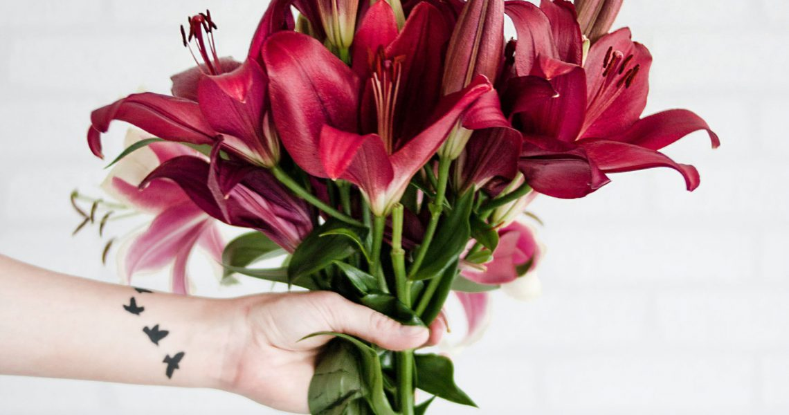 person-holding-maroon-stargazer-flowers-1179026